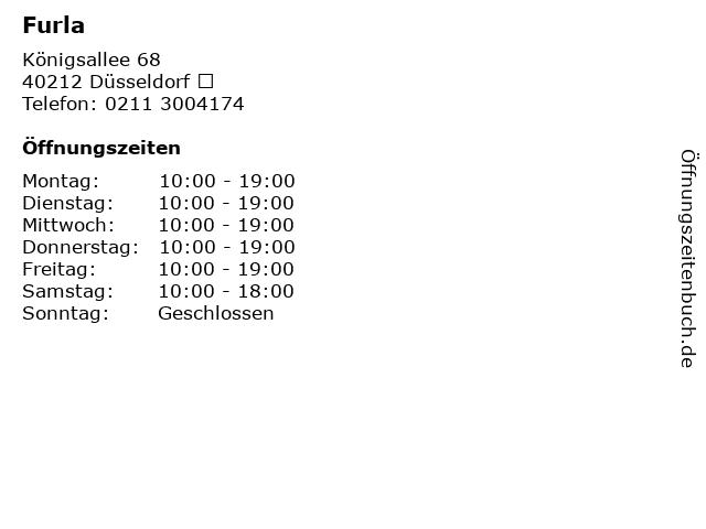 Furla in Düsseldorf : Adresse und Öffnungszeiten