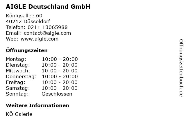 AIGLE Deutschland GmbH in Düsseldorf: Adresse und Öffnungszeiten