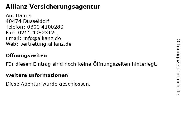 Allianz Vertretung Juergen Schneider in Düsseldorf: Adresse und Öffnungszeiten