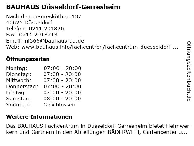 bauhaus gerresheim