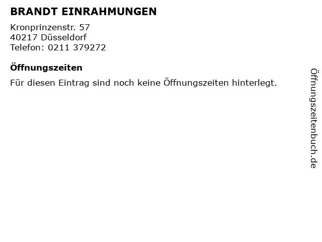 BRANDT EINRAHMUNGEN in Düsseldorf: Adresse und Öffnungszeiten