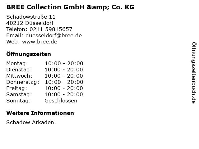 BREE Collection GmbH & Co. KG in Düsseldorf: Adresse und Öffnungszeiten