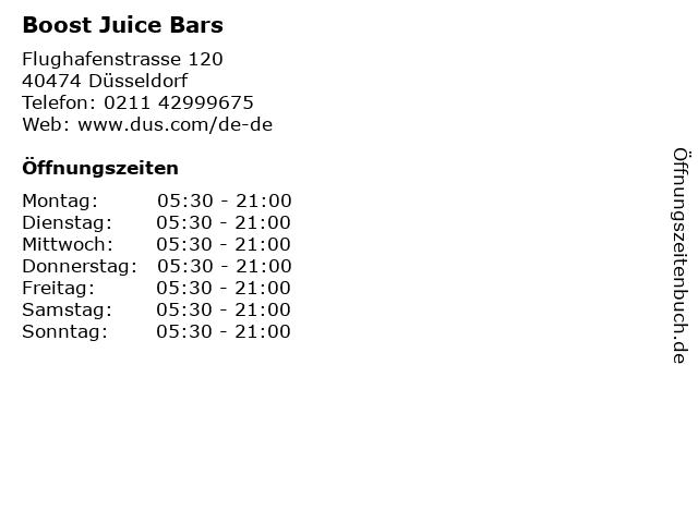 Boost Juice Bars in Düsseldorf: Adresse und Öffnungszeiten
