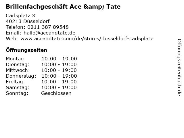 Brillenfachgeschäft Ace & Tate in Düsseldorf: Adresse und Öffnungszeiten