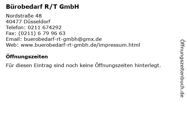 Bürobedarf R/T GmbH in Düsseldorf: Adresse und Öffnungszeiten