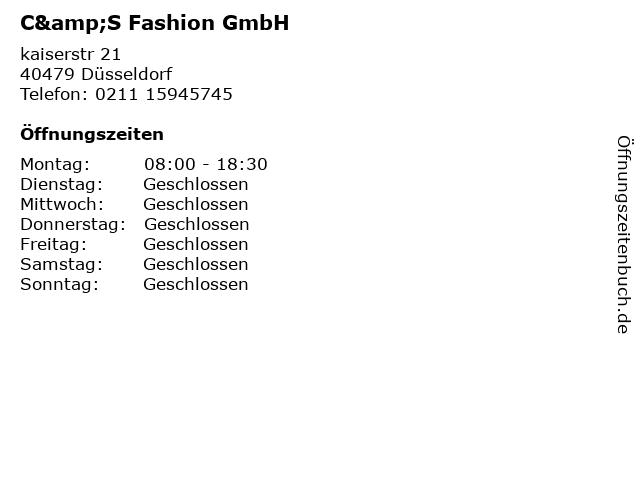 C&S Fashion GmbH in Düsseldorf: Adresse und Öffnungszeiten