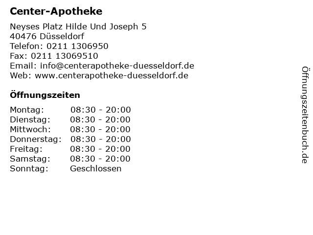 Center-Apotheke in Düsseldorf: Adresse und Öffnungszeiten