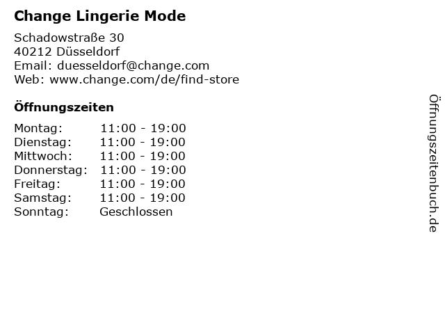 Change Lingerie Mode in Düsseldorf: Adresse und Öffnungszeiten