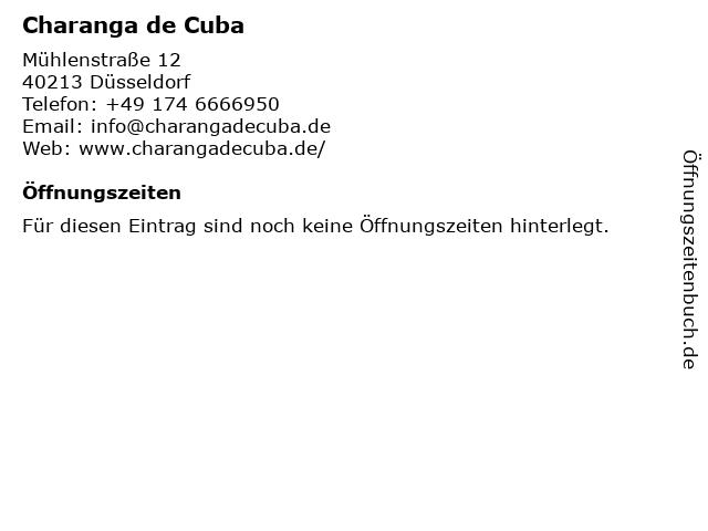 Charanga de Cuba in Düsseldorf: Adresse und Öffnungszeiten