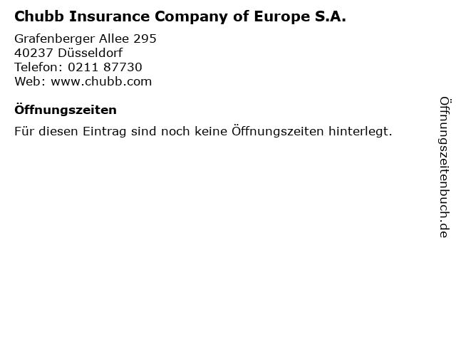 Chubb Insurance Company of Europe S.A. in Düsseldorf: Adresse und Öffnungszeiten