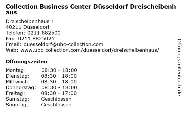 Collection Business Center Düsseldorf Dreischeibenhaus in Düsseldorf: Adresse und Öffnungszeiten