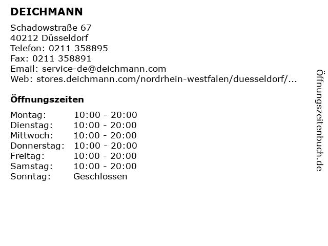Deichmann SE in Düsseldorf: Adresse und Öffnungszeiten