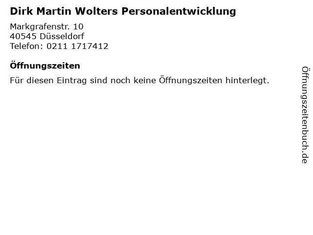 Dirk Martin Wolters Personalentwicklung in Düsseldorf: Adresse und Öffnungszeiten