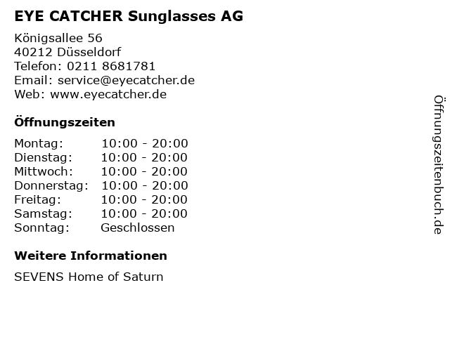 EYE CATCHER Sunglasses AG in Düsseldorf: Adresse und Öffnungszeiten
