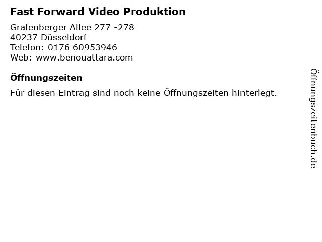Fast Forward Video Produktion in Düsseldorf: Adresse und Öffnungszeiten