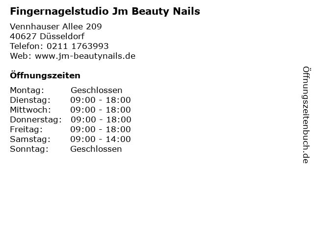 Fingernagelstudio Jm Beauty Nails in Düsseldorf: Adresse und Öffnungszeiten