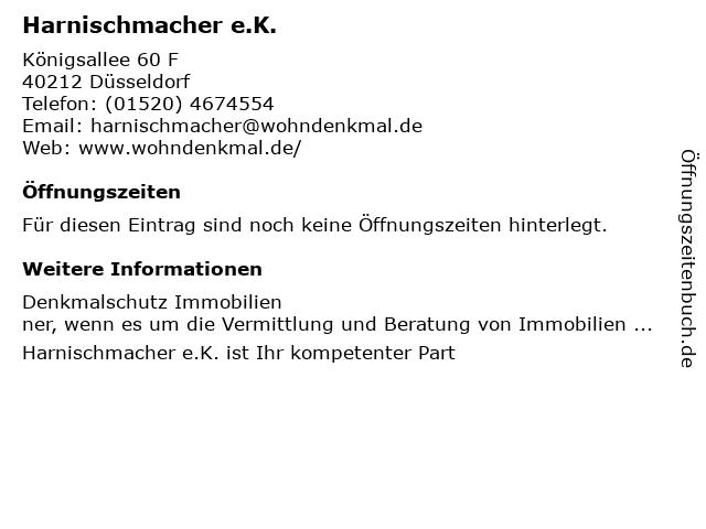Friedrich Harnischmacher Sanitär- und Heizungstechnik in Düsseldorf: Adresse und Öffnungszeiten