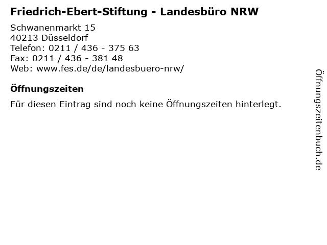 Friedrich-Ebert-Stiftung - Landesbüro NRW in Düsseldorf: Adresse und Öffnungszeiten