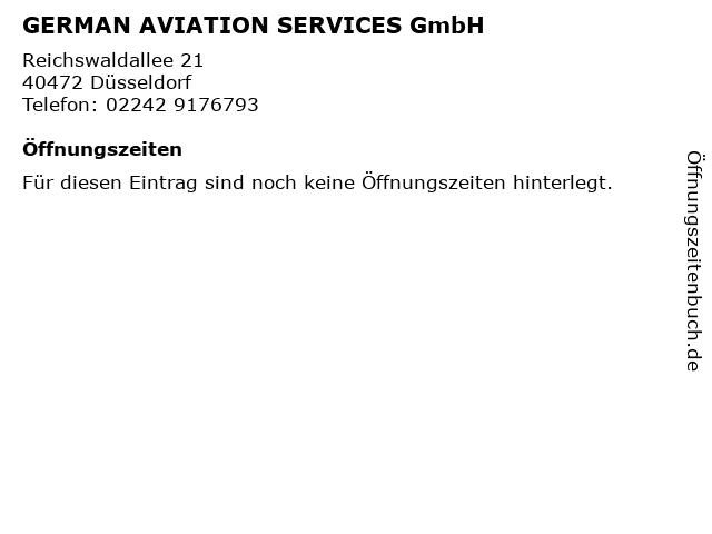 GERMAN AVIATION SERVICES GmbH in Düsseldorf: Adresse und Öffnungszeiten