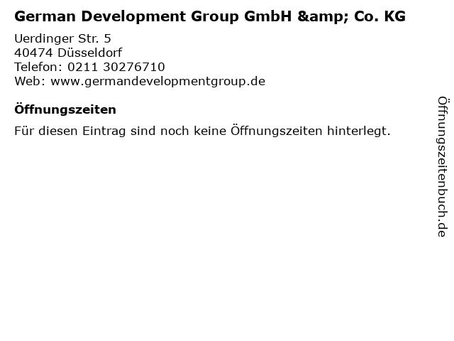 German Development Group GmbH & Co. KG in Düsseldorf: Adresse und Öffnungszeiten
