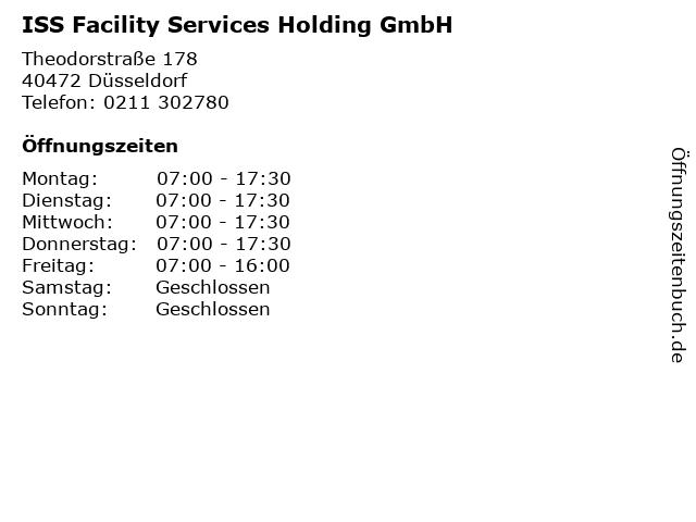 ISS Facility Services Holding GmbH in Düsseldorf: Adresse und Öffnungszeiten
