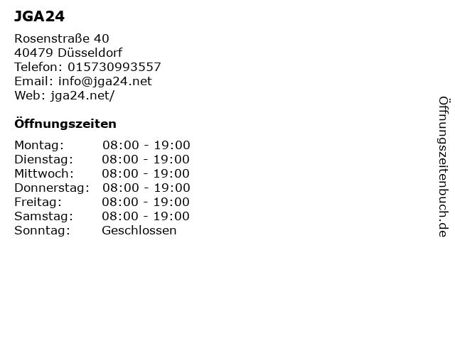 JGA24 in Düsseldorf: Adresse und Öffnungszeiten