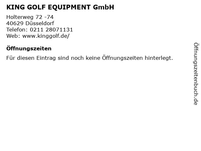 KING GOLF EQUIPMENT GmbH in Düsseldorf: Adresse und Öffnungszeiten