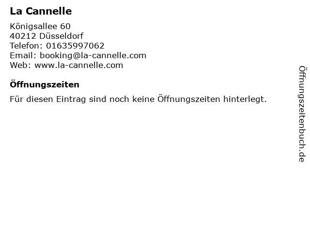 La Cannelle in Düsseldorf: Adresse und Öffnungszeiten