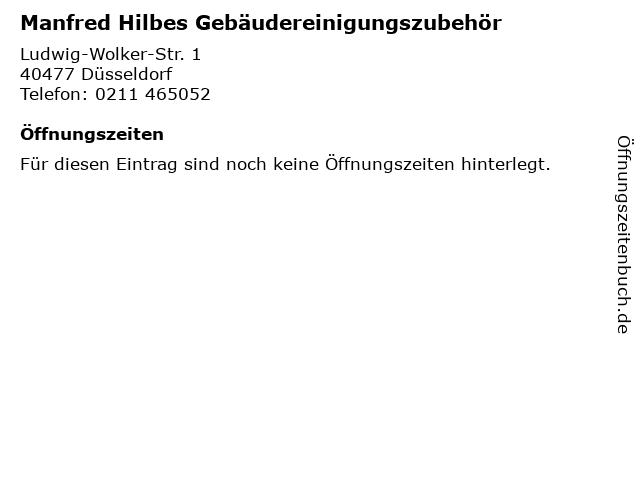 Manfred Hilbes Gebäudereinigungszubehör in Düsseldorf: Adresse und Öffnungszeiten
