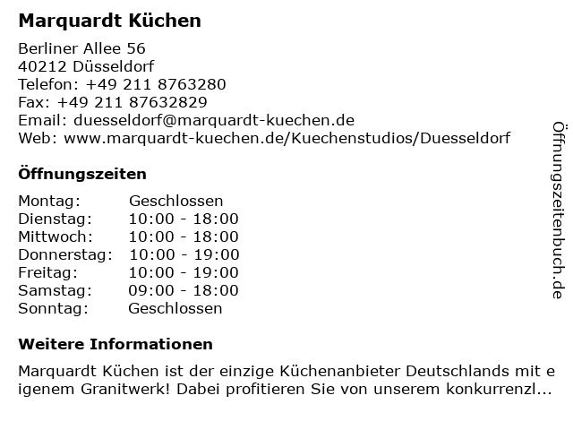 ᐅ Offnungszeiten Marquardt Kuchen Berliner Allee 56 In Dusseldorf