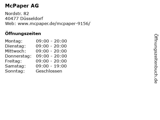 McPaper AG in Düsseldorf: Adresse und Öffnungszeiten