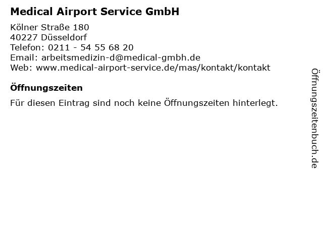 Medical Airport Service GmbH in Düsseldorf: Adresse und Öffnungszeiten