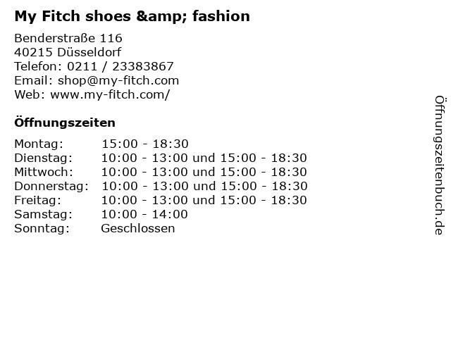 My Fitch shoes & fashion in Düsseldorf: Adresse und Öffnungszeiten