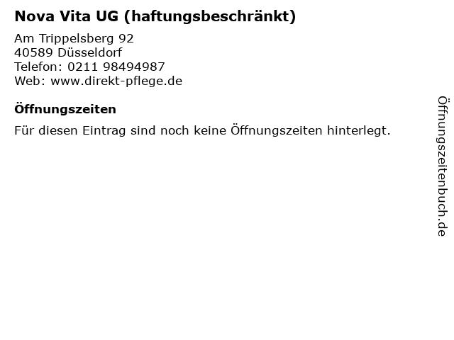 Nova Vita UG (haftungsbeschränkt) in Düsseldorf: Adresse und Öffnungszeiten