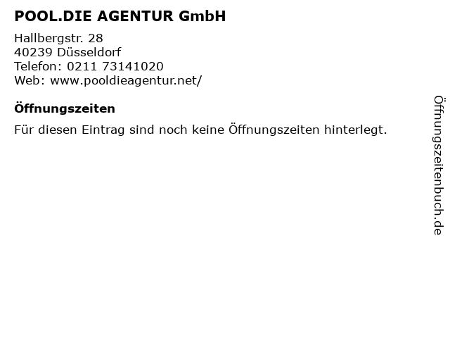 POOL.DIE AGENTUR GmbH in Düsseldorf: Adresse und Öffnungszeiten