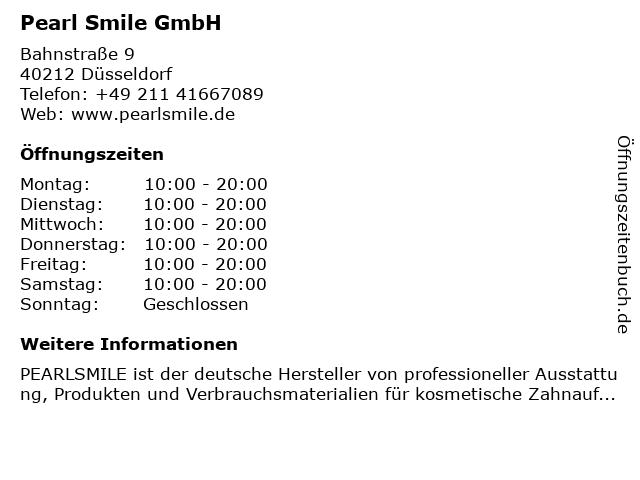 Pearl Smile GmbH in Düsseldorf: Adresse und Öffnungszeiten