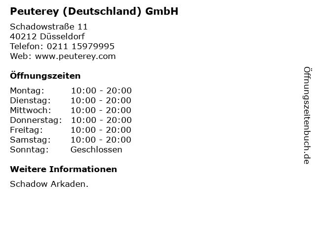 Peuterey (Deutschland) GmbH in Düsseldorf: Adresse und Öffnungszeiten