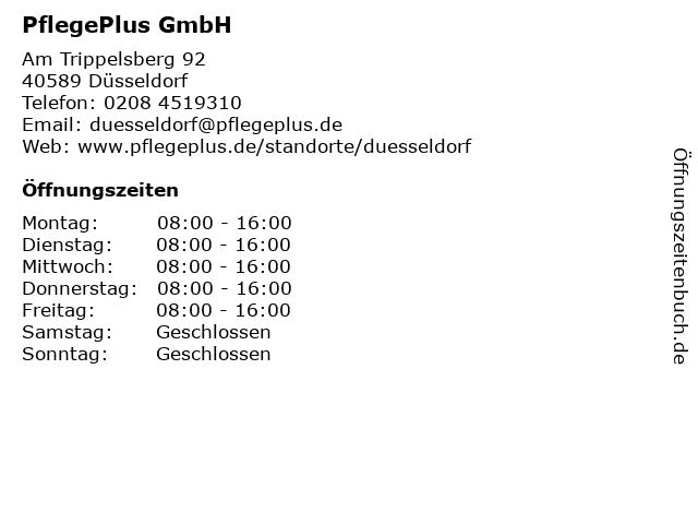 PflegePlus GmbH in Düsseldorf: Adresse und Öffnungszeiten