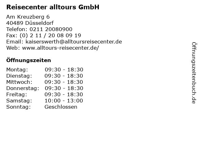 Reisecenter alltours GmbH in Düsseldorf: Adresse und Öffnungszeiten