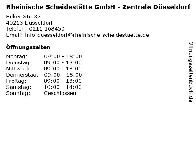 Rheinische Scheidestätte GmbH - Goldankauf in Düsseldorf: Adresse und Öffnungszeiten