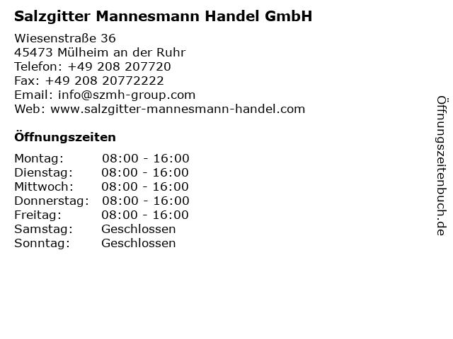 Salzgitter Mannesmann Handel GmbH in Düsseldorf: Adresse und Öffnungszeiten