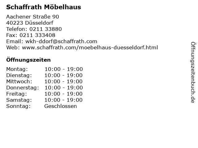 ᐅ öffnungszeiten Schaffrath Möbelhaus Aachener Straße 90 In
