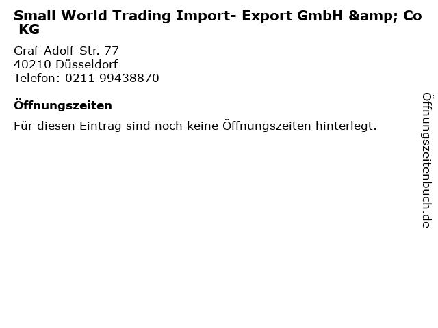 Small World Trading Import- Export GmbH & Co KG in Düsseldorf: Adresse und Öffnungszeiten