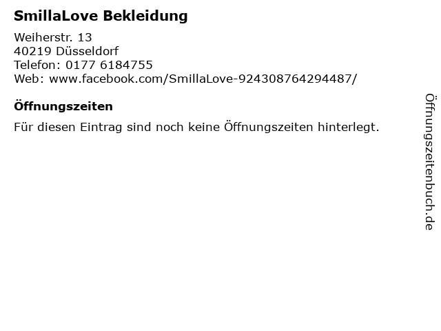 SmillaLove Bekleidung in Düsseldorf: Adresse und Öffnungszeiten