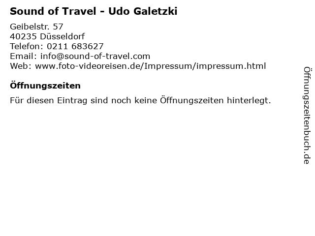 Sound of Travel - Udo Galetzki in Düsseldorf: Adresse und Öffnungszeiten