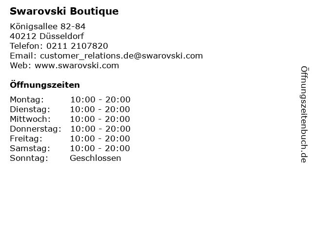 Swarovski Boutique in Düsseldorf: Adresse und Öffnungszeiten