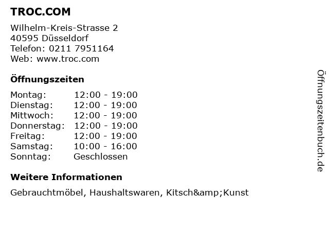 ᐅ öffnungszeiten Troccom Wilhelm Kreis Strasse 2 In Düsseldorf