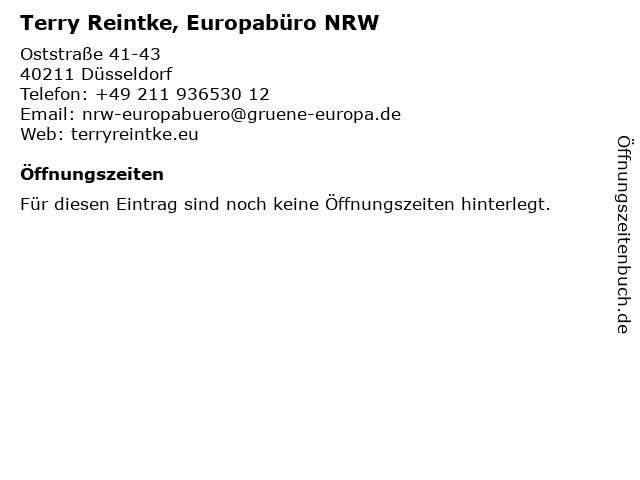 Terry Reintke, Europabüro NRW in Düsseldorf: Adresse und Öffnungszeiten