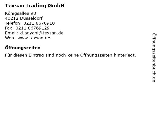 Texsan trading GmbH in Düsseldorf: Adresse und Öffnungszeiten