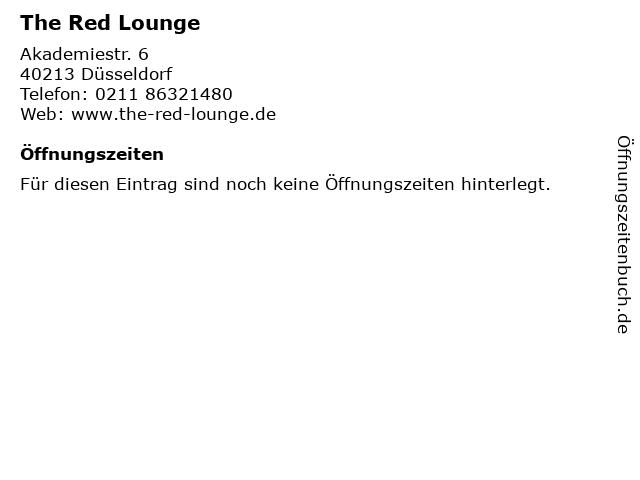 The Red Lounge in Düsseldorf: Adresse und Öffnungszeiten